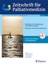 cover zeitschrift für palliativmedizin