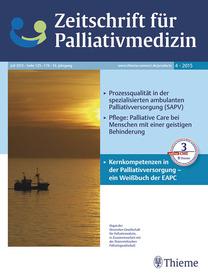 cover zeitschrift palliativmedizin 2015 nr 4